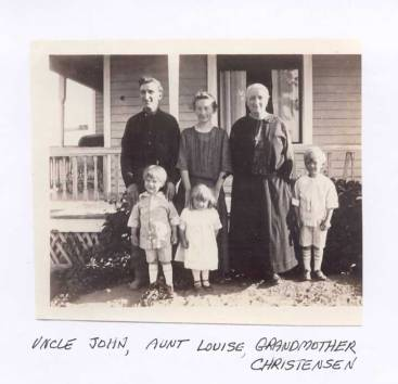 John, Louisa, Johanna, John, Jennie and Robert Christensen-circa1924