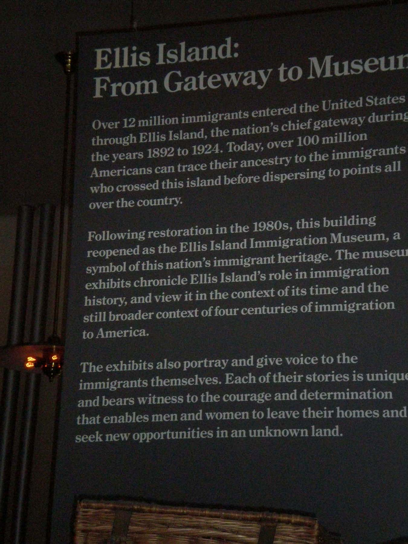 an overview of the ellis island Find out more about the history of ellis island, including videos, interesting articles, pictures, historical features and more get all the facts on historycom.